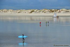 Sports nautiques sur la plage de La Torche